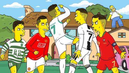 Así lucirían los jugadores 'simpsonizados' por Stefano Monda, un artista italiano que también es fan de Los Simpson, la serie que hoy celebra su Día Mundial.