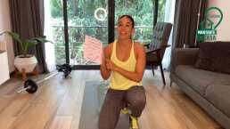 El entrenamiento de Gina Holguin con… ¡un botellón de agua!