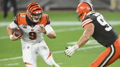 Los Cincinnati Bengals se quedan cortos y caen 30 - 35 frente a los Cleveland Browns.