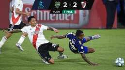 Boca y River terminan en empate, pero con dos expulsados