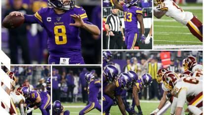 Washington Redskins 9-19 Minnesota Vikings. Adrian Peterson sigue haciendo historia en yardas por tierra.