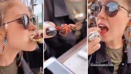 'Uy, tronó delicioso': Natasha Dupeyron presume lo mucho que disfruta comer grillos