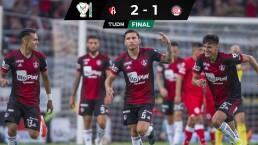 Atlas se queda corto ante Toluca en la Copa MX