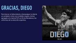 Maradona recibe homenaje en el FIFA21
