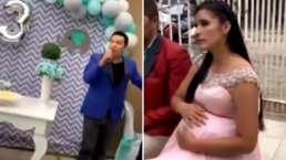 Este hombre exhibe la infidelidad de su esposa embarazada en medio de una fiesta familiar