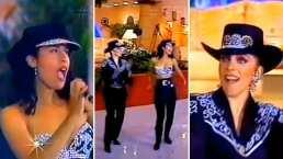 Verónica Castro se echó un bailecito junto a Selena Quintanilla y fue al ritmo de 'La Carcacha'