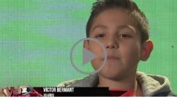 Víctor Bermant de Pánuco Veracruz llega a La Voz Kids
