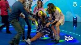 A días de dar a luz, Mariana Echeverría se avienta un split en complicado baile al que nombró 'Dando a luz'