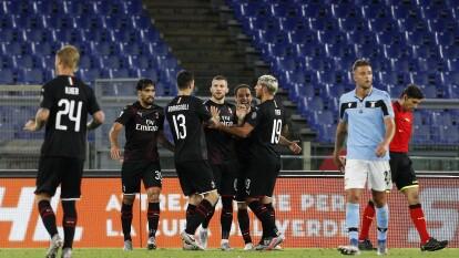 Lazio cayó ante Milan por goleada en la J30 del futbol italiano | Con esta derrota, Lazio se rezaga en la lucha por el título de la Serie A.