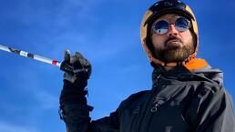 Alejandro Fernández mostró su talento para esquiar