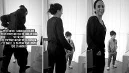 Mira cómo Inés Gómez Mont anima a su hijo Bosco para sacar sus mejores pasos en su clase de baile