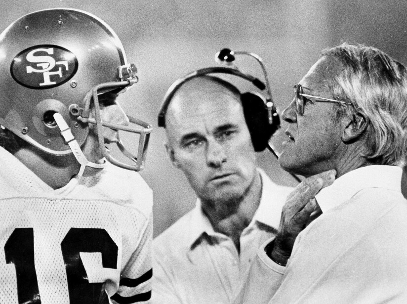 Joe Montana, Bill Walsh, Bobb McKittrick