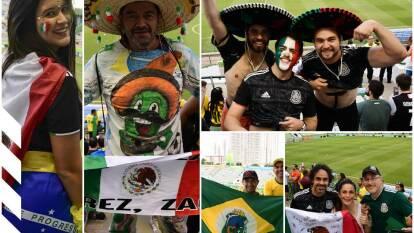 Gran ambiente en el estadio Walmir Campelo Bezerra para la final del Mundial Sub-17 entre Brasil y México.