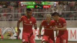 ¿Cómo clasificó Atlético San Luis? Toluca lo golea en Cuartos de Final