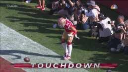 ¡Qué inicio para Jimmy G! 49ers se adelanta 7-0 con TD de Bourne