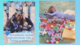 Con globos, alberca de pelotas y en familia: así celebró Anahí el primer cumpleaños de su hijo Emiliano