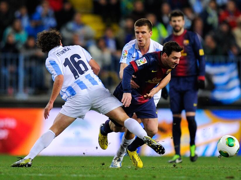 Malaga CF and FC Barcelona - Copa del Rey Quarter Final