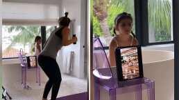 Mira la rutina de ejercicio de Jacky Bracamontes y su hija