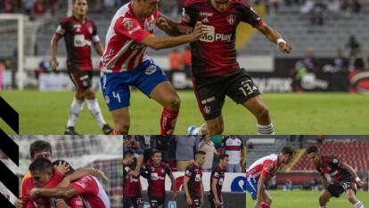 Con goles de Juan Castro al minuto 61 y Nicolas Ibañes al 90+3, el Atlético San Luis gana y pone en problemas al Atlas.