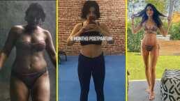 """Aislinn Derbez muestra la evolución de su cuerpo y Vadhir responde: """"Llevo en etapa post parto toda la vida"""""""