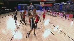 ¡Keldon Johnson está dando el partido de su vida ante Rockets!