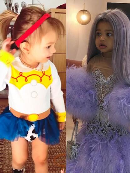 Los festejos de Halloween ha comenzado y los famosos compartieron algunas fotografías de sus hijos disfrazados.