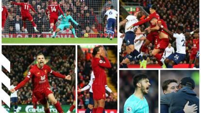 El Liverpool remonta al Tottenham 2-1 con goles de Henderson y Salah; Kane marcó por los Spurs.