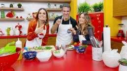 Andrea Legarreta y Tania Rincón muestran la buena química que tienen cocinando una deliciosa pasta
