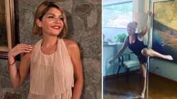 A sus 45 años, Itatí Cantoral demuestra su gran habilidad en el pole dance