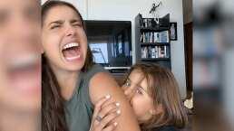 """Así reaccionó Michelle Renaud cuando su hijo Marcelo la mordió: """"Ayyy"""""""