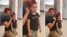 """Edwin Luna sorprende al peinar a su hija Giana, quien luce una cabellera rojiza: """"Que linda se ve"""""""