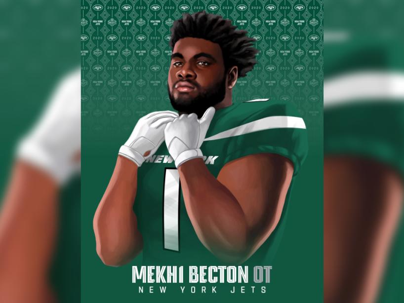 Mekhi Becton, NFL Draft, 1.png