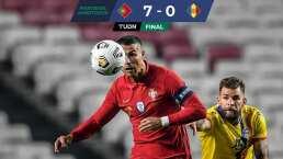 ¡No hubo rival! Cristiano Ronaldo se luce en goleada de Portugal