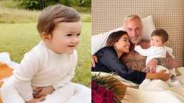 Blu, hija de Sharon Fonseca,  enternece las redes al intentar despertar a su papá