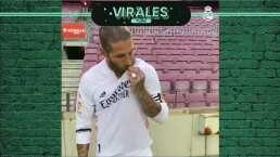 ¡Hala Madrid! Ramos besa el escudo del Madrid