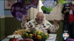 ¡ ¡ ¡Genial! ! !: 'El abuelo' de 'Una Familia de Diez' celebró su cumpleaños trabajando