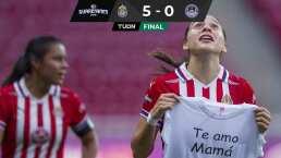 Norma Palafox vive momento emotivo en goleada de Chivas