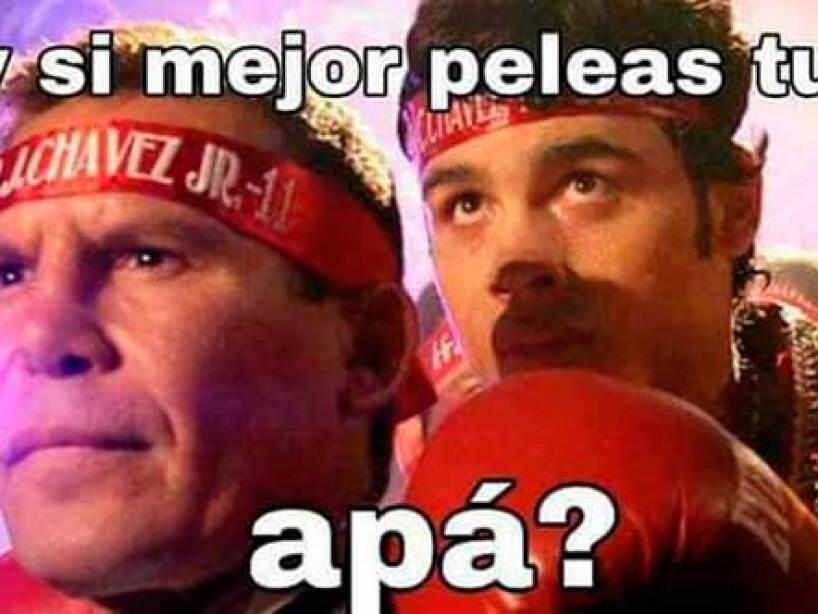 Los memes noquean a Chávez Jr