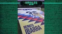 ¡Amor al América! Renato Ibarra estrena mesa de fut-tenis azulcrema