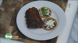 Cocina Costillas de Cerdo en Pulque con sopesitos de manteca
