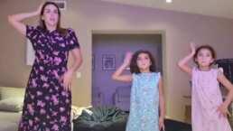 Jacky Bracamontes y sus hijas protagonizan un divertido reto de baile: 'Fuimos gallinitas'