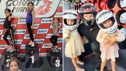 Hijas de Jacky Bracamontes heredan el amor a las carreras: así se divierten en los Go Karts