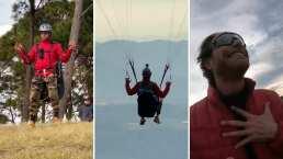 Sebastián Rulli cumple su sueño y vuela por primera vez solo en parapente